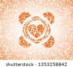 heart with electrocardiogram... | Shutterstock .eps vector #1353258842