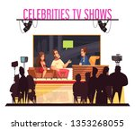 tv celebrities quiz show with... | Shutterstock .eps vector #1353268055