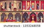 castle interior concept 4 flat... | Shutterstock .eps vector #1353268058