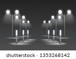 outdoor garden lighting design... | Shutterstock .eps vector #1353268142