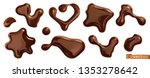 chocolate drops. 3d realistic... | Shutterstock .eps vector #1353278642