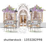 series of backgrounds decorated ... | Shutterstock .eps vector #1353282998