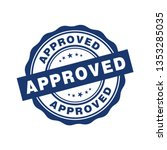 approved badge sign vector... | Shutterstock .eps vector #1353285035