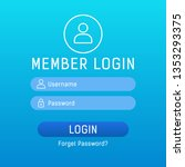 member login vector form with...