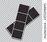 vector photo frames mockup... | Shutterstock .eps vector #1353298895