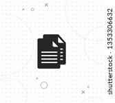 files  vector best flat icon on ... | Shutterstock .eps vector #1353306632