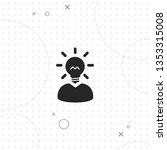 idea  vector best flat icon on... | Shutterstock .eps vector #1353315008