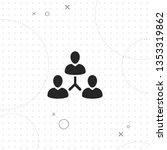 management team hierarchy ... | Shutterstock .eps vector #1353319862