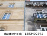 before and after between a wash ... | Shutterstock . vector #1353402992