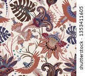Colorful Paisley Pattern For...