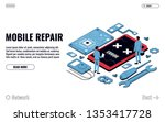 mobile repair and service...   Shutterstock .eps vector #1353417728