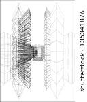 urban skyscrapers vector 172 | Shutterstock .eps vector #135341876