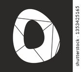 o white alphabet letter... | Shutterstock . vector #1353425165