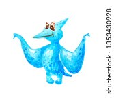 Blue Dinosaur Pterodactyl With ...