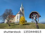 wooden christian cross and...   Shutterstock . vector #1353444815