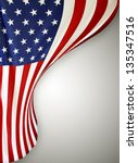 closeup of american flag on... | Shutterstock . vector #135347516