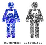 post groom icon mosaic of... | Shutterstock .eps vector #1353481532