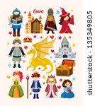 set of fairy tale element icons | Shutterstock .eps vector #135349805
