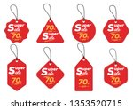 super sale tag collection  set... | Shutterstock .eps vector #1353520715