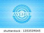 avenue water wave emblem. | Shutterstock .eps vector #1353539045