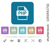 php file format white flat... | Shutterstock .eps vector #1353551732