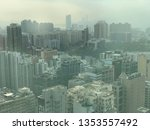 aerial panorama shot of dust... | Shutterstock . vector #1353557492