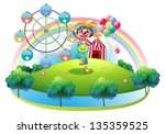 illustration of a clown with a... | Shutterstock . vector #135359525