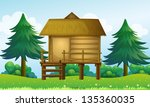 illustration of a small house... | Shutterstock . vector #135360035