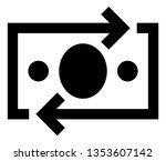 currency exchange vector icon | Shutterstock .eps vector #1353607142