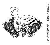 elegant flamingo bird with... | Shutterstock .eps vector #1353610622