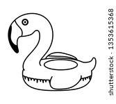 elegant flamingo bird float | Shutterstock .eps vector #1353615368