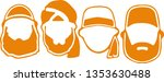 islamic beard man icon logo | Shutterstock .eps vector #1353630488