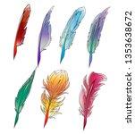 vector set of colorful bird... | Shutterstock .eps vector #1353638672