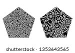 repair service filled pentagon... | Shutterstock .eps vector #1353643565