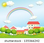 illustration of a peaceful... | Shutterstock . vector #135366242