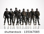 Eight Isolated U.s. Marines. O...