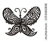 butterfly. vector illustration   Shutterstock .eps vector #1353682808