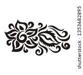 floral pattern. vector...   Shutterstock .eps vector #1353682895