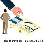mini business people manila... | Shutterstock .eps vector #1353695045