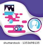 social media set icons | Shutterstock .eps vector #1353698135