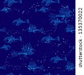 seamless pattern with fish   Shutterstock .eps vector #135370022