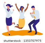 elegant business people... | Shutterstock .eps vector #1353707975