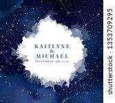 magic night dark blue sky with...   Shutterstock .eps vector #1353709295