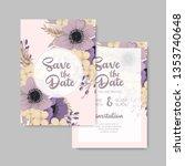 wedding invitation card suite...   Shutterstock .eps vector #1353740648