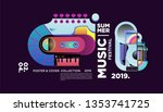summer colorful art and music... | Shutterstock .eps vector #1353741725