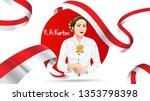kartini day  r a kartini the... | Shutterstock .eps vector #1353798398