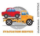 evacuation car. side view.... | Shutterstock .eps vector #1353799565