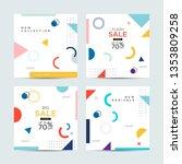 editable post template social... | Shutterstock .eps vector #1353809258