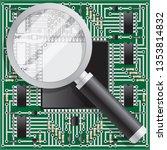 magnifying glass over... | Shutterstock . vector #1353814832
