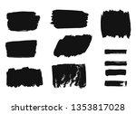 set of hand drawn watercolour... | Shutterstock .eps vector #1353817028